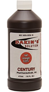 Use of Dakin's solution for wounds